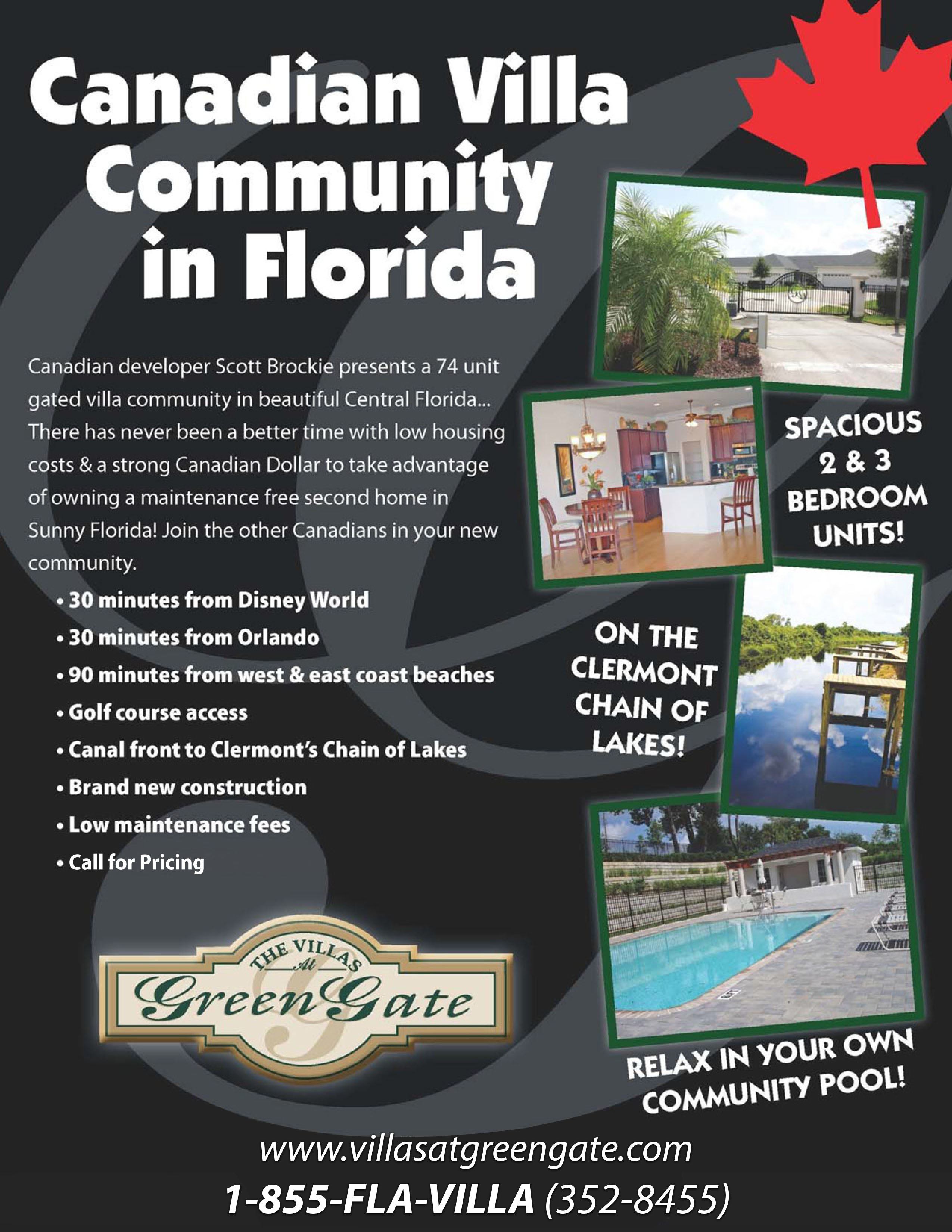 Canadian Villa Community In Florida The Villas At Greengate